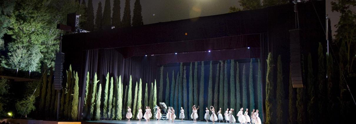 Auditorio Música y Danza en los Jardines del Generalife Alhambra de Granada