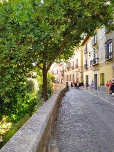 Acceso en vehículo a la Alhambra