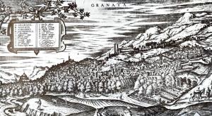 Grabado de Hoefnagle para la obra Civitatis Orbis Terrarum 1563