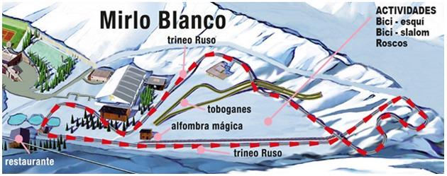 Sierra Nevada , centro de atracciones Mirlo Blanco