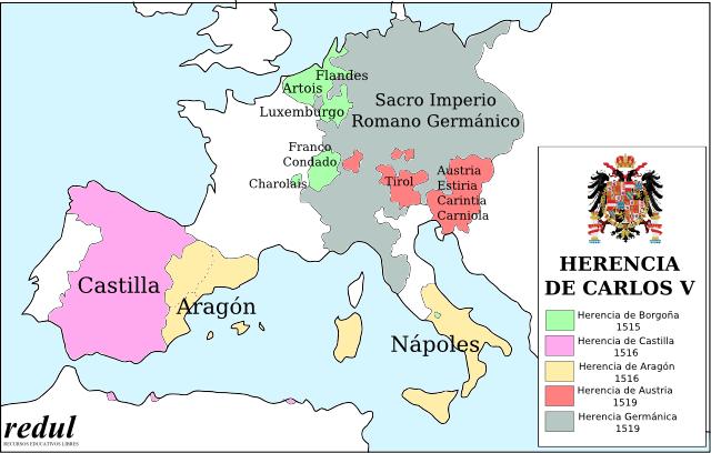 Países que gobernó Carlos V